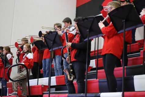 The band playing at a game on December 15.