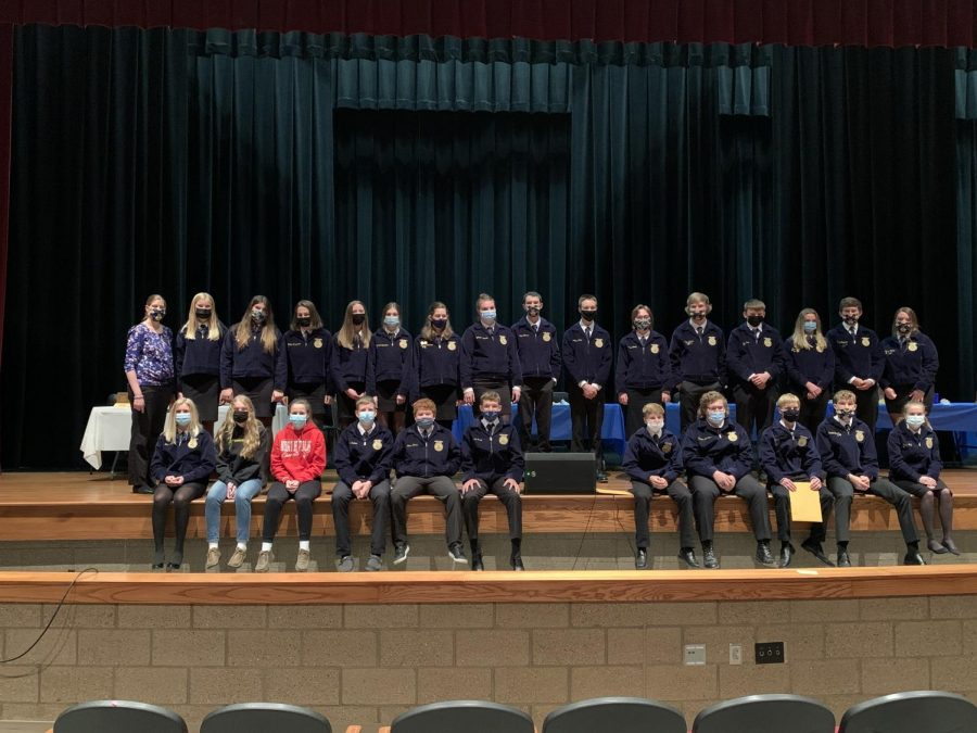The+North+Polk+FFA+chapter+gathers+to+celebrate+the+2020-2021+school+year.