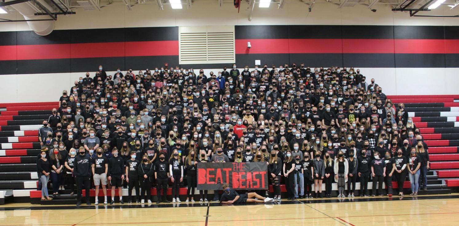 North Polk High School students and staff wore black on March 26 to show their support for Ross Muhlbauer.