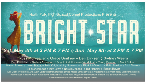 North Polks 2021 spring musical production, Bright Star https://sites.google.com/northpolk.org/bright-star/home