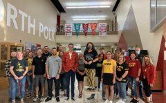 The North Polk Staff Team representing their preferred team.